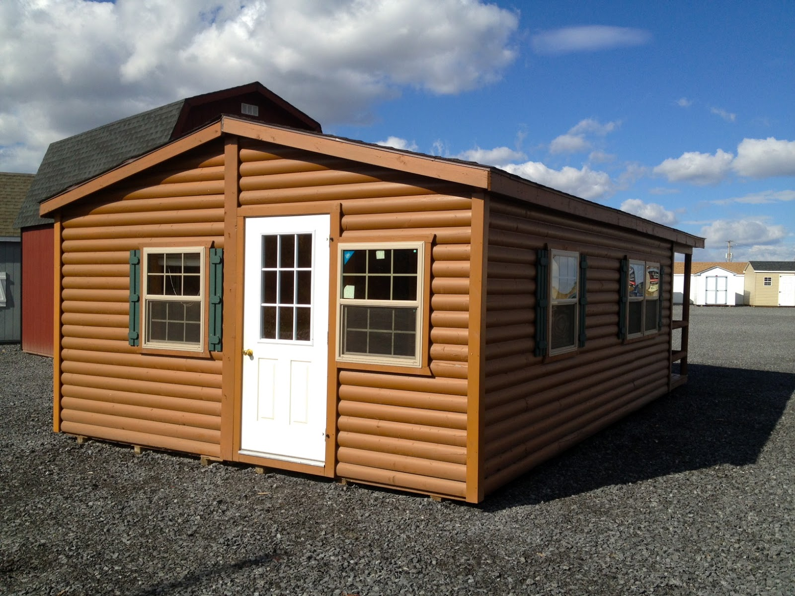 Small scale homes wood tex adirondack cabin for Adirondack cabin builders