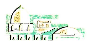 castle vintage illustration