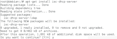 Konfigurasi DHCP Server Debian 8 (1)