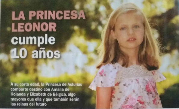 Happy Tenth Birthday To Princess Leonor Of Asturias