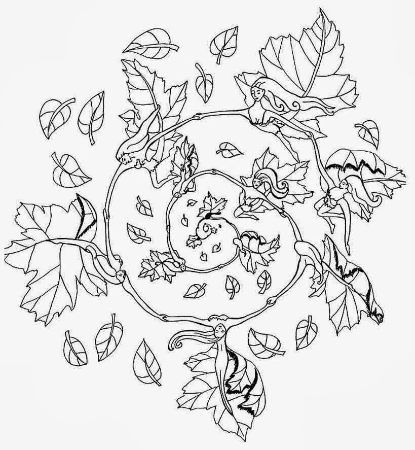 fall flower coloring pages - photo#33