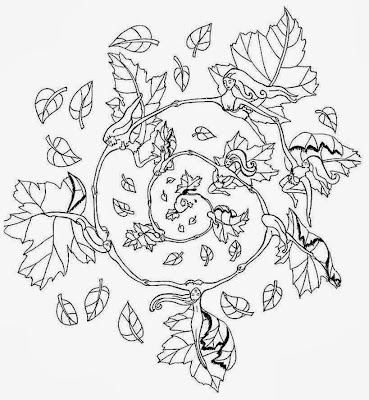 Fall Mandala Coloring Pages
