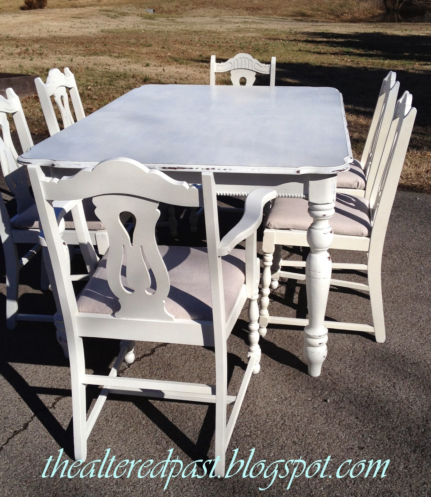 quickly and easily paint a table and chairs with paint sprayer, the altered past blog