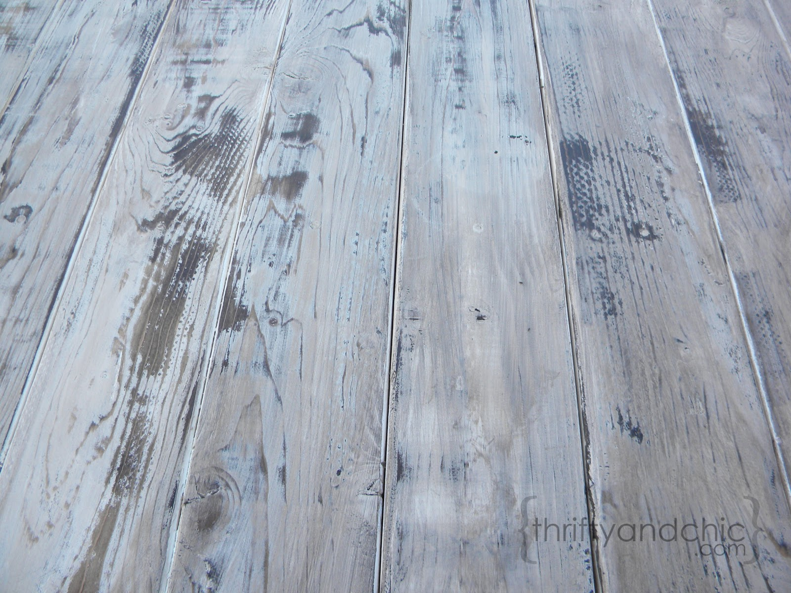 A Perfect Distressed Weathered Greyish Brownish Whitish Finish And On Plus The Hubs Loved It Too