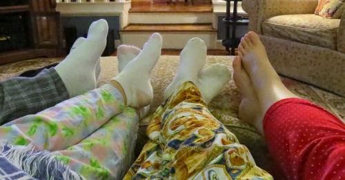 pajama clad legs