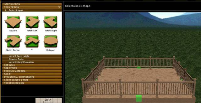 Free deck design software free deck design software for Free online deck design