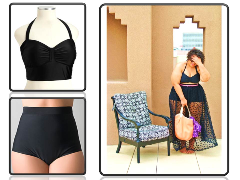 plus size bikini, fatkini, and plus size swimwear.