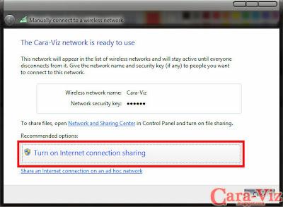Cara Berbagi Koneksi Modem pada Windows 7