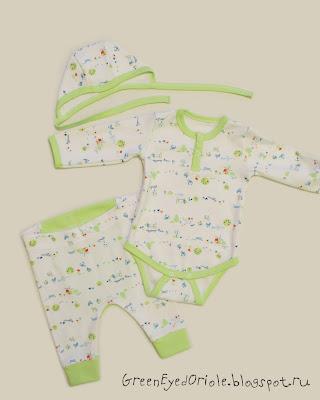 Комплект для мальчика, боди, штанишки, чепчик