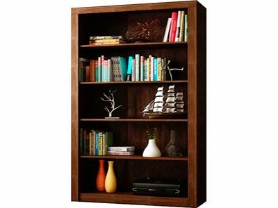 estantes de livros cor tabaco