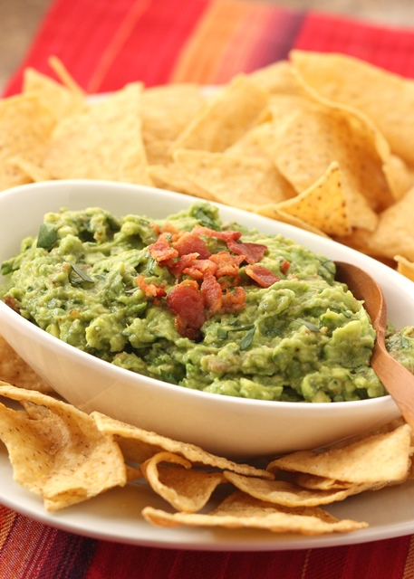 Roasted Garlic and Bacon Guacamole recipe by Barefeet In The Kitchen