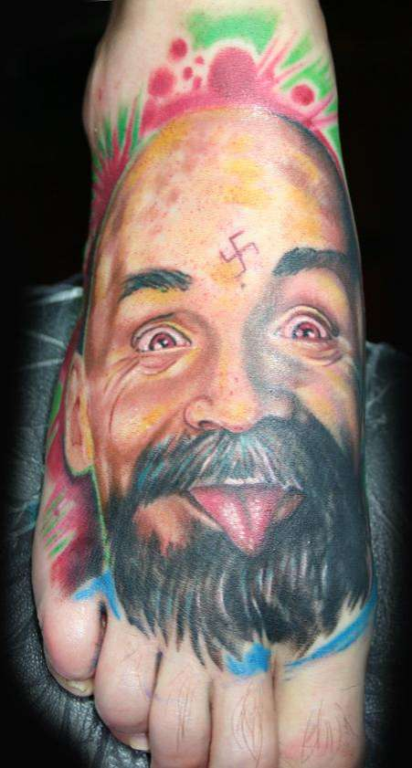 examples of strange and extreme tattoos the odd blogg ForCharles Manson Tattoos