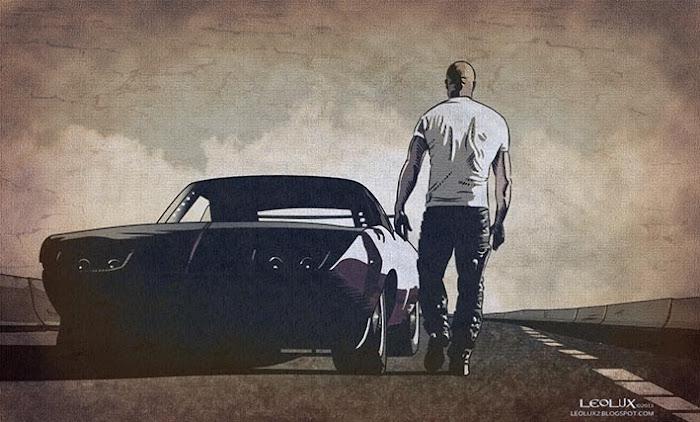 ©leolux. Dibujo e Ilustracion. Fotogramas   Photograms. Vin Diesel. Fast and Furious