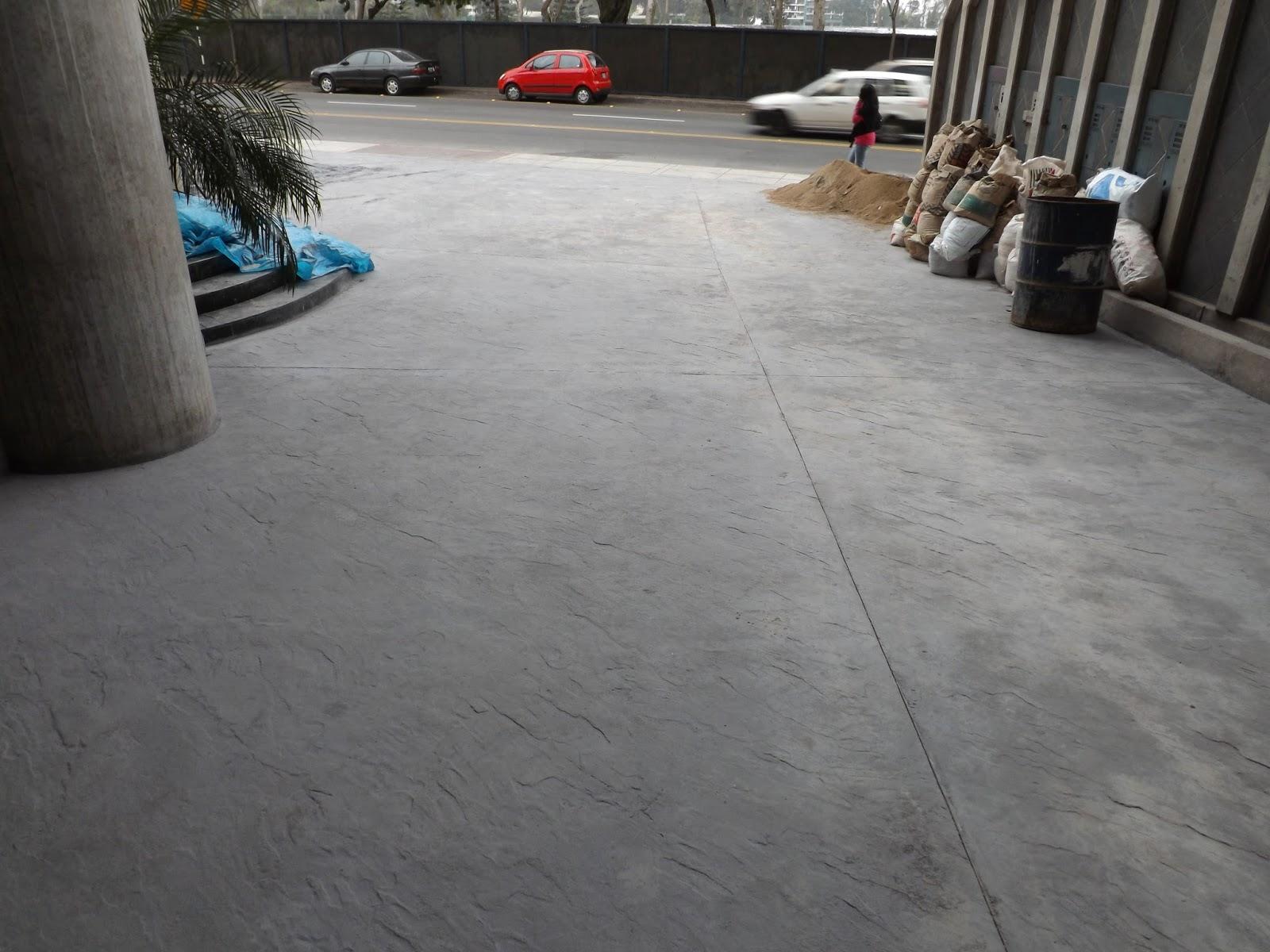 Cristian campos piso de concreto estampado increte peru - Piso de cemento pulido blanco ...