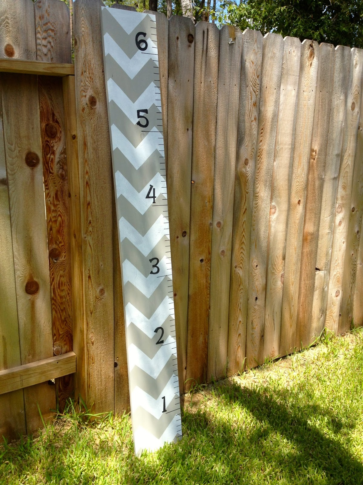 Diy Crazy Easy Chevron Growth Chart Ruler Mccarty Adventures