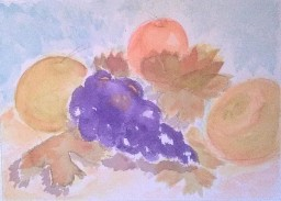 Asian Pears and grapes by CC Willow