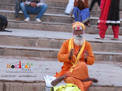 Sadhu at ghat of Varanasi