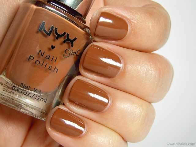 NYX Girls Nail Polish in Dark Beige