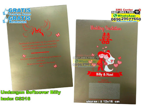 Undangan Softcover Billy