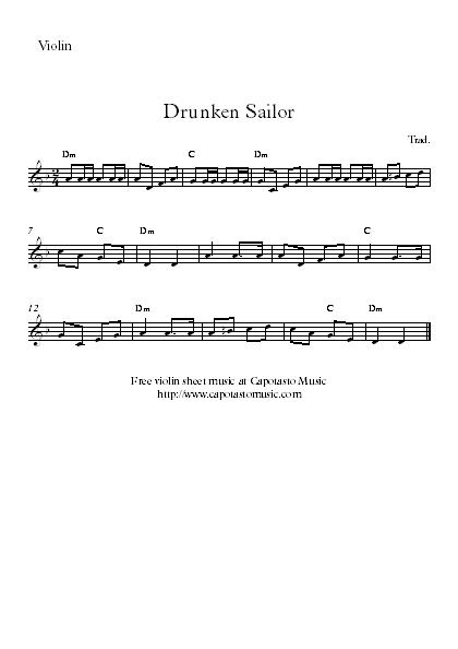 Printable christmas carol sheet music