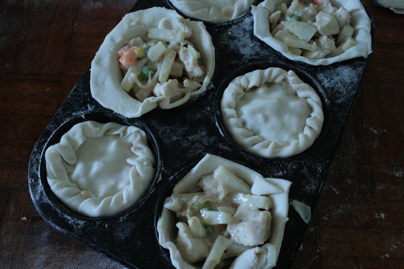 Winter Chicken and Veg Pot Pies PlanetBakeLife