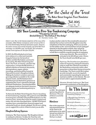 BSI Trust Fall 2015 Newsletter