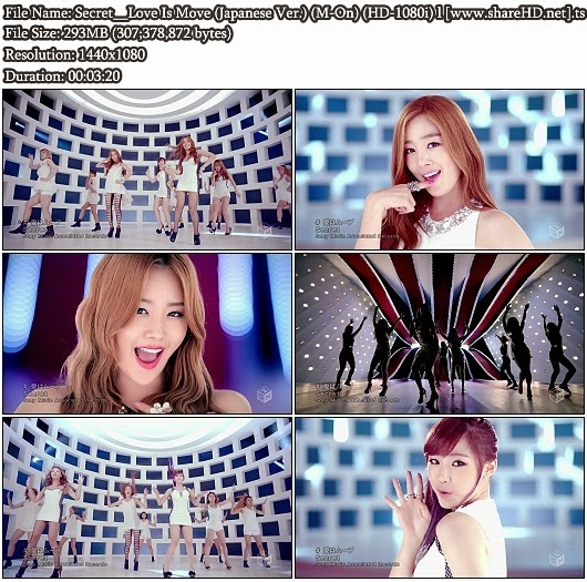 Download PV Secret - Love Is Move (Japanese Version) (M-On Full HD 1080i)