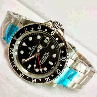 Jam Tangan Rolex GMT Black-Black Matic
