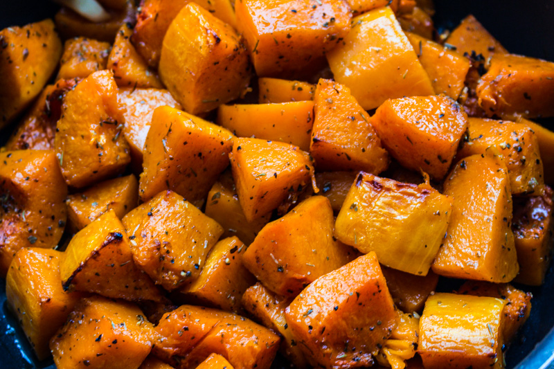 Roasted caramelised butternut pumpkin | Svelte Salivations