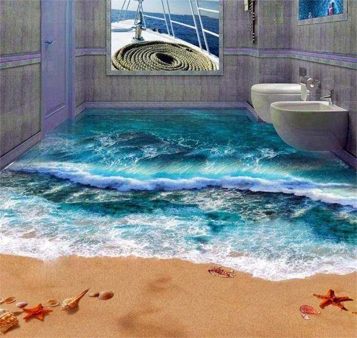 Viele Sind Von Der Kreativen Idee Und Dem Erstaunlichen Effekt Fasziniert.  U201eOhne Schwimmring Traue Ich Mich Gar Nicht, Solch Ein Badezimmer Zu  Betretenu201c ...