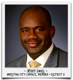 JERRY DAVIS IS CURRENTLY SERVING HIS SECOND TERM IN OFFICE