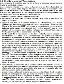 NOIXLUCOLI ONLUS SINTESI DELLO STATUTO