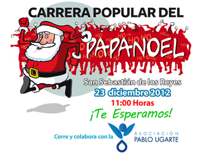 cartel carrera popular del papa noel