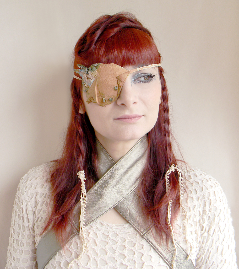 Unique Handmade Eye Patch Leather Jewelry Fashion Head Piece