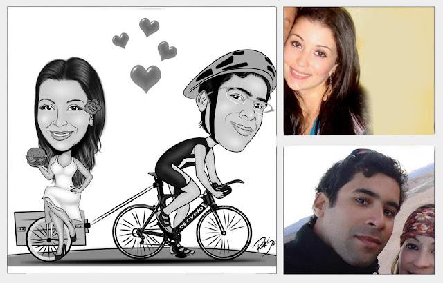 bicicleta carregando namorada