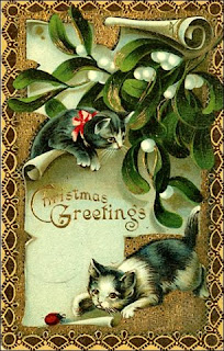 Vintage Christmas greeting Card 2012