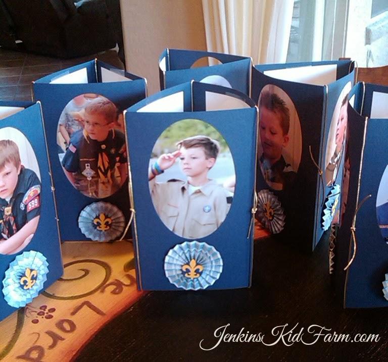 Jenkins Kid Farm: Blue and Gold Banquet Centerpiece - Tri-fold Photo ...