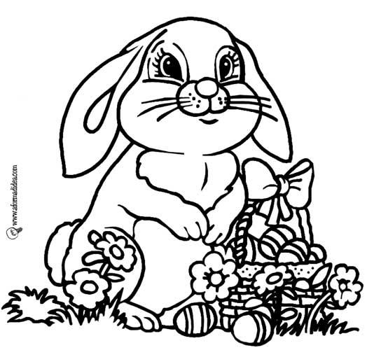 Immagini di coniglio da colorare for Disegni da colorare di pasqua