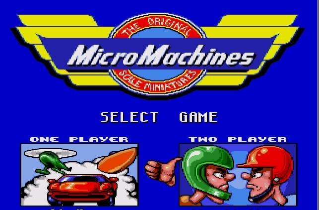 jogo do Micro Machines para o Mega Drive é um bom exemplo disso