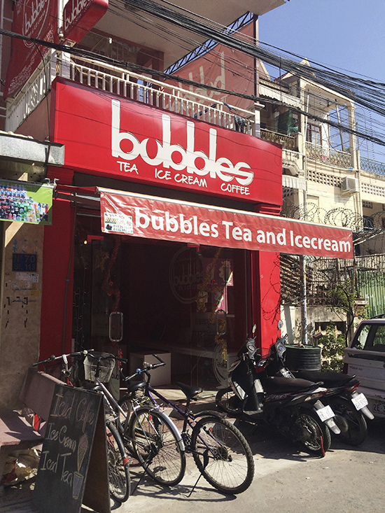 Bubbles Tea and Ice Cream Phnom Penh