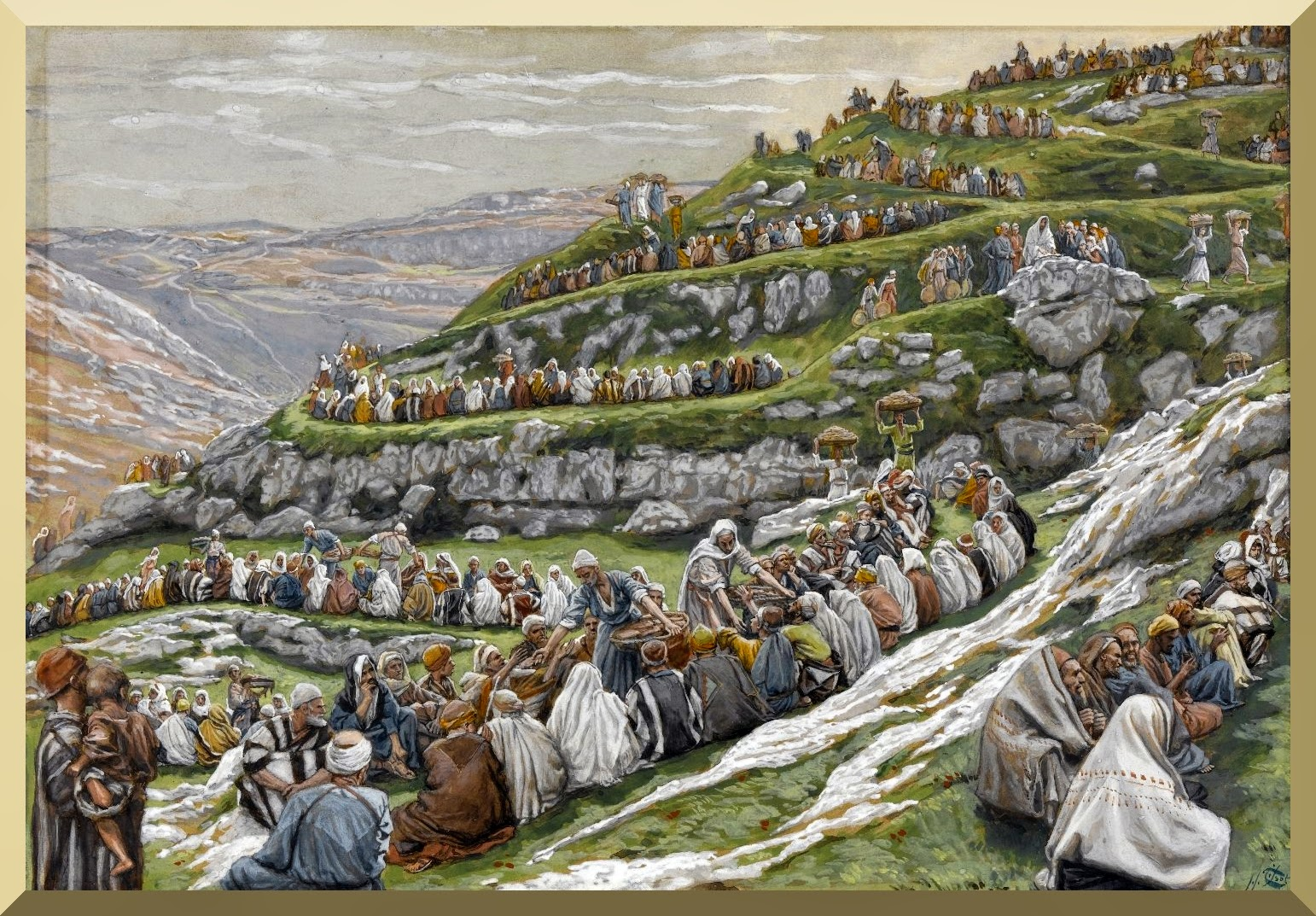 """""""The Miracle of the Loaves and Fishes"""" -- by James Tissot"""