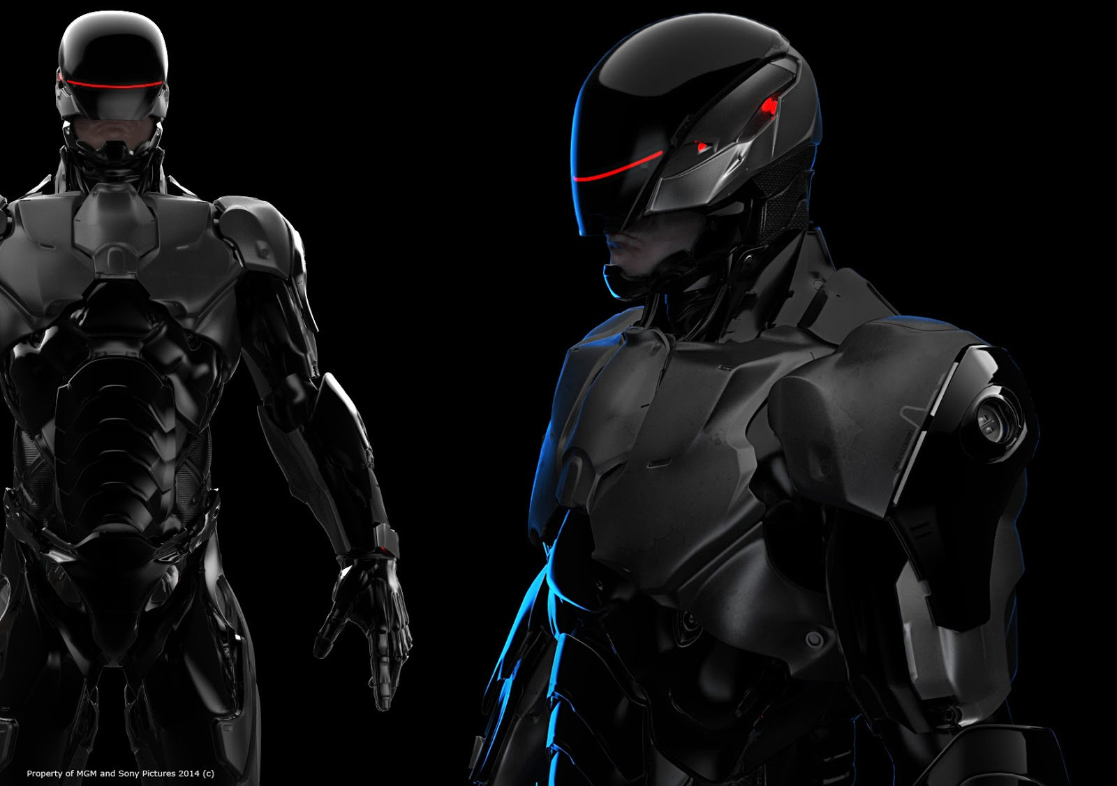 awesome robocop 2014 armor and weapons concept art by