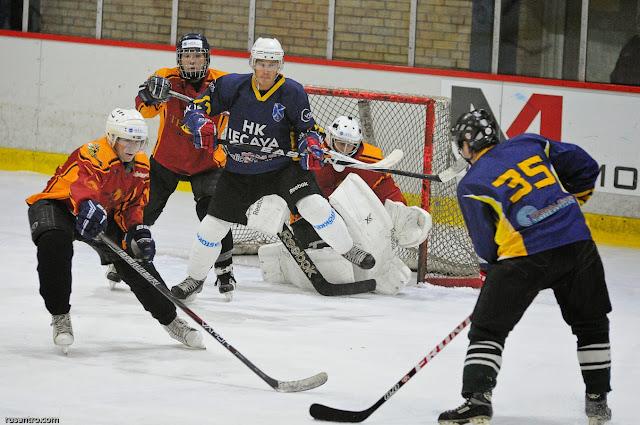 ZAHL čempionāta spēle starp HK Tērvete un HK Iecava