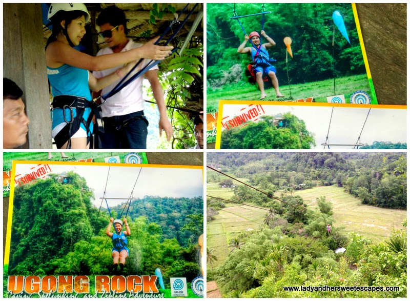 ziplining at Ugong Rock Adventure