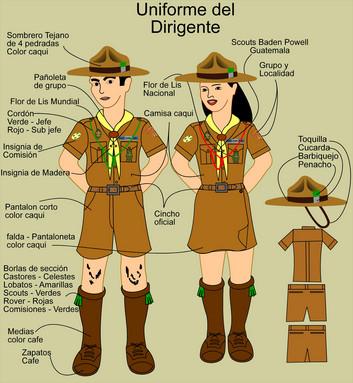 Scouts de classe un uniforme