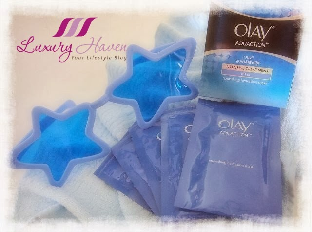 olay aquaction nourishing hydration mask review