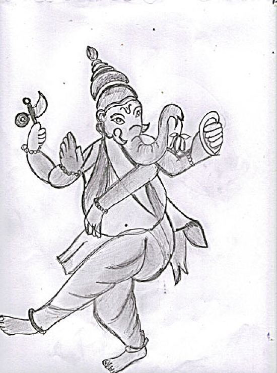 Pencil Drawings Hindu Gods