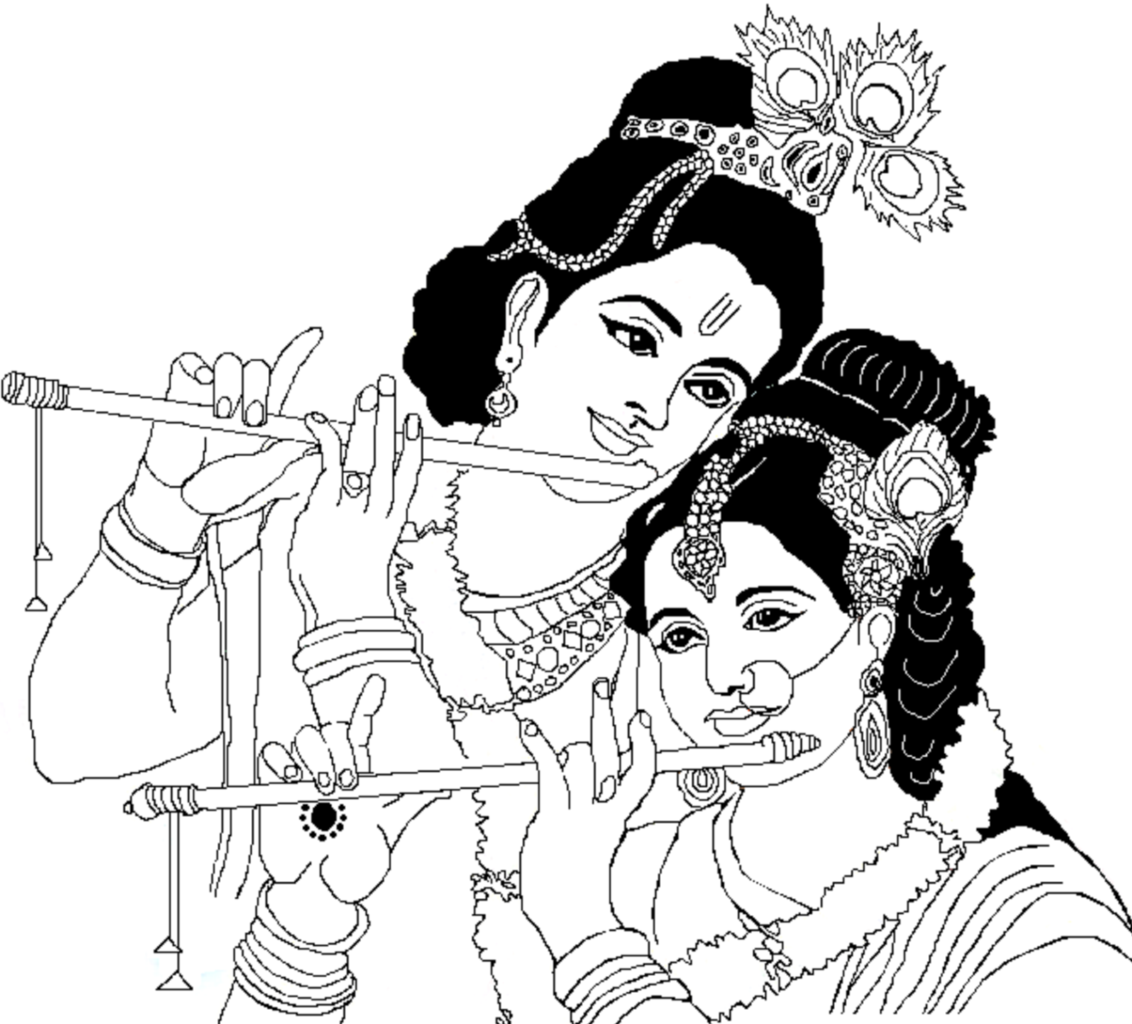 coloring pages on god krishna - photo#23