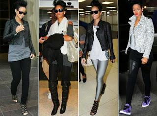Rihanna em  looks de estilo moderno