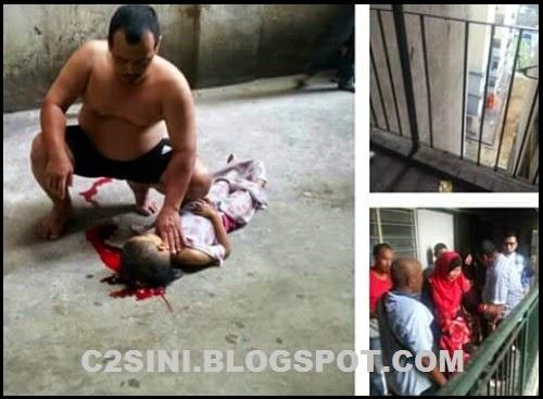 Tragis Budak 5 tahun maut jatuh tingkat 6 akibat balkoni berlubang 5 Gambar